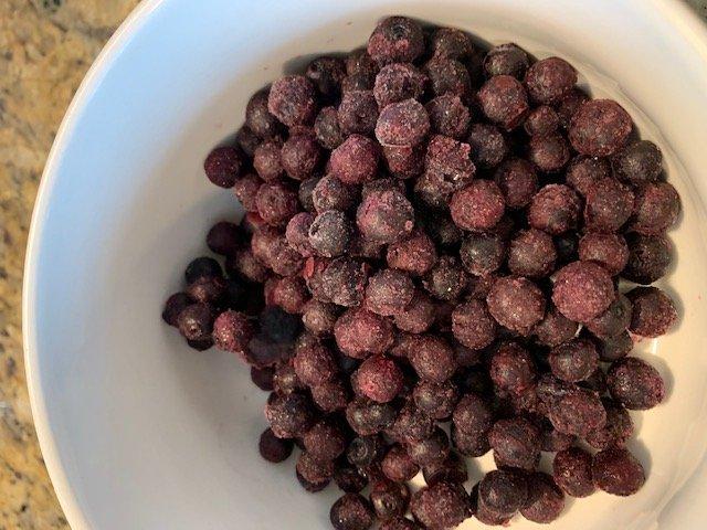 frozen blueberries - fresh from the freezer