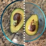 how to preserve avocado with a simple trick - cold water - before after